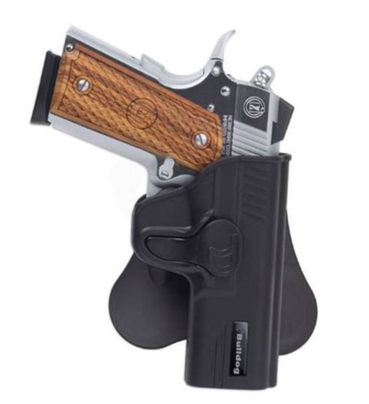 Bulldog Rapid Release Paddle Holster, S&W M&P Shield, Black, Right Hand