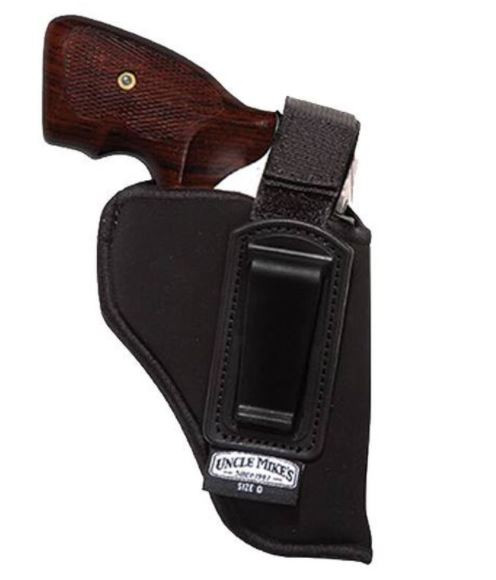 """Uncle Mikes Inside the Pant Holster with Retention Strap 3.75""""-4.5"""" Large Frame Semi Autos Left Hand"""