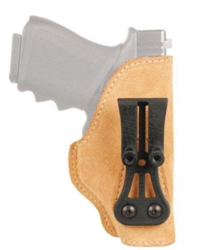Blackhawk Leather Tuckable Holster, Brown, Left Hand, For Glock 30/S&W M&P Compact /Wide Frame Compact Autos