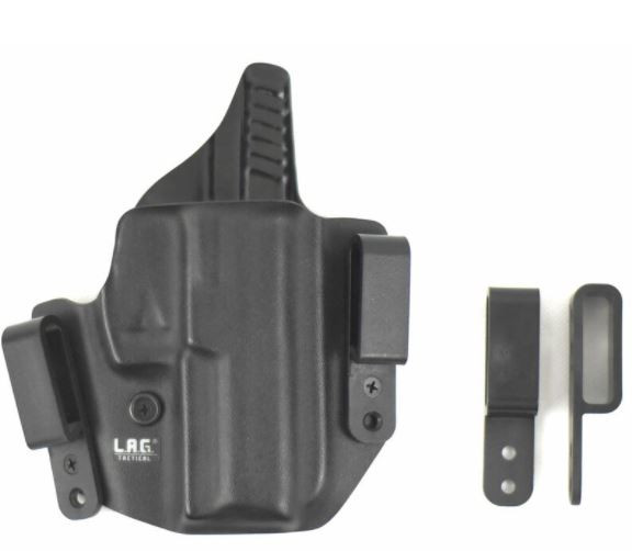 "L.A.G. Tactical Defender Series OWB/IWB Holster 1911 5"" Barrel with Rail, Right Hand"