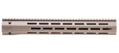 """Troy BattleRail 15"""" M-LOK Rail 5.56 Carbon Fiber FDE"""