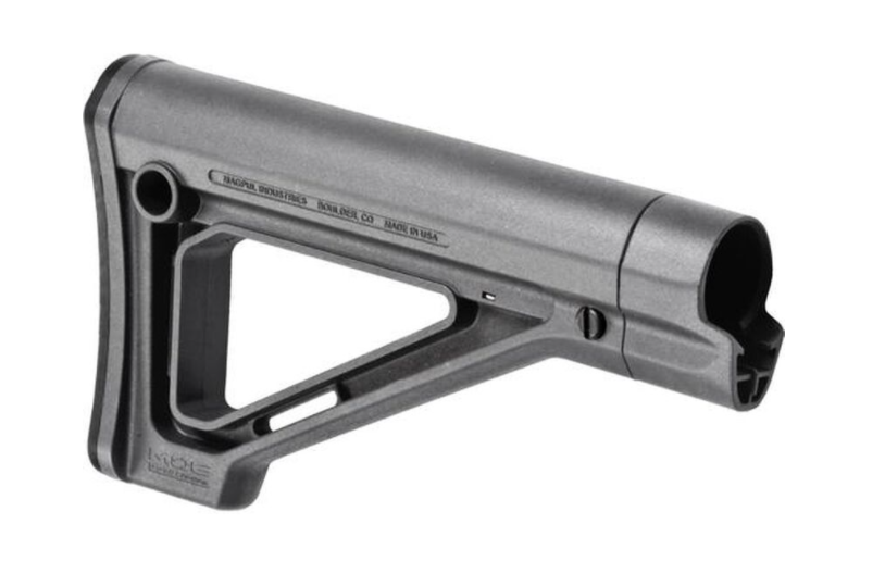 Magpul MOE Fixed Carbine Stock AR-15, Mil-Spec Diameter, Rubber Butt Pad, Polymer, Gray