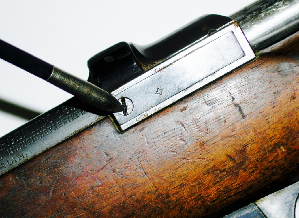 Argentine 1891 Ejector Box Spring Screw