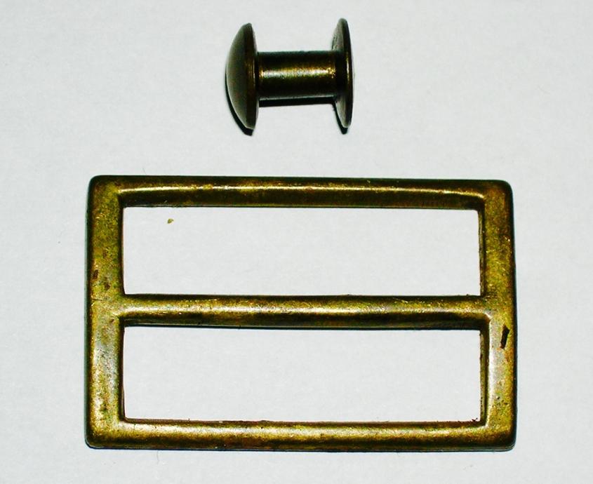 German Mauser Sling Buckle w/ Button, Brass