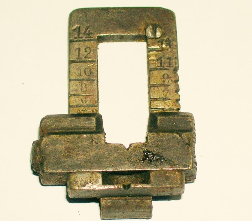 Spanish 1893 Carbine Rear Sight