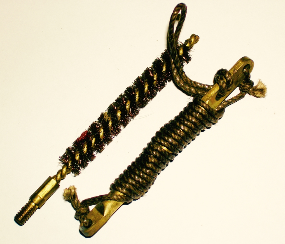 1903 Brass Pull Thru w/ Brush, Pre WWII