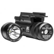NcSTAR Flashlight and Green Laser Combo with QR Weaver Mount 150 Lumen 1 CR123A Battery Aluminum Anodized Black