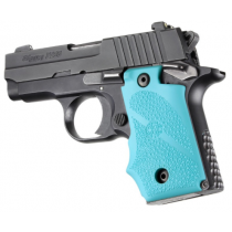 Hogue SIG Sauer P238 Rubber Grip with Finger Grooves Aqua