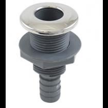 "Whitecap - S-3804 316 Stainless Steel/Plastic 1-1/4"" Thru-Hull w/ Barb"