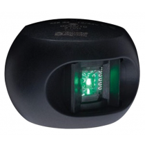 Aqua Signal - Series 33 12 V Black Side Mount Starboard Side LED Light