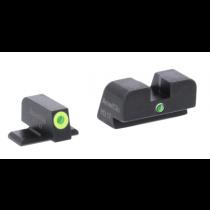 AmeriGlo I-Dot SIG Sauer #8 Tritium Night Sights Green/Lime Green