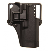 BLACKHAWK! SERPA CQC Belt/Paddle Holster S&W M&P Shield 9/40 Right Hand Polymer Black 410563BK-R