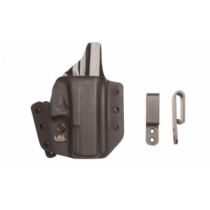 "L.A.G Tactical Defender Series OWB/IWB Holster for 3"" Barrel 1911 Models Right Hand Draw Kydex Construction Matte Black Finish"