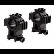 "Sun Optics Picatinny Tri-Rail Rings 30mm with 1"" Inserts, High"