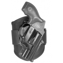 Fobus Ankle Holster S&W J Frame/Charter Arms/Rossi 88 Right Hand Draw Polymer Shell/Cordura Pad with Velcro Strap Matte Black