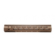 "Troy Industries 13"" M-LOK Battle Rail AR Style .308 High Profile Handguard Rifle Length Free Float Aluminum FDE"