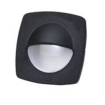 """Perko - 2-1/4"""" Black Polymer Courtesy Light with Snap on Front Cover"""