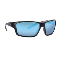 Magpul Industries Summit Sunglasses w/ Polycarbonate Lens, Matte Black Frame, Rose Lens w/ Blue Lens Mirror MAG1023-640