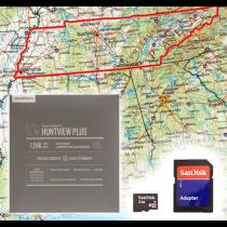 Garmin HuntView Plus Maps - Tennessee - Birdseye Satellite Imagery MicroSD Card