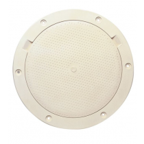 Beckson 8 Non-Skid Pry-Out Deck Plate - Beige