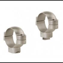 Leupold 2-Piece STD Windage Adjustable Steel Rings 30mm, High, Silver