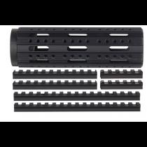Advanced Technology Free Float Modular Rail Handguard 8-Sided with Combo Accessory Rail Package AR-15 Carbine Length Aluminum Black
