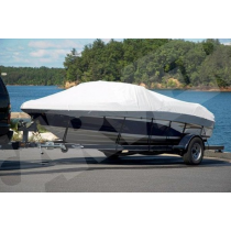 """Carver 83118P-10 - 18'6"""" L x 102"""" W Haze Gray Tournament Ski Boats with Wide or Pickle Fork Bow and Swim Platform Boat Cover"""