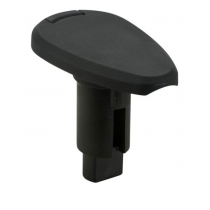 Attwood 910T Series Teardrop Black Composite 3-Pin Plug-In Base
