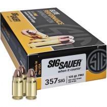 Sig Sauer Elite Performance 357 Sig, 125 GR FMJ, Box of 50