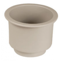 "Beckson Marine Cup Holder Super 3-3/4"" x 4-3/8"" x 3-1/4"" - Off White - Beige"
