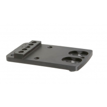 TruGlo Pistol Red Dot Sight Mount Plate Fits GLOCK Except 42/43 Rear Sight Dovetail TruGlo/Vortex/Dr Optic Steel
