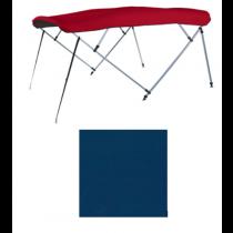 "Carver 510A05 - 8' L x 96""-102"" W Captain Navy Sunbrella™ Acrylic 4-Bow Square Pontoon Bimini Top with Storage Boot"
