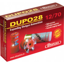 "Ddupleks DUPO28 12 GA 2-3/4"" STEEL Expanding Slug, Box of 5"