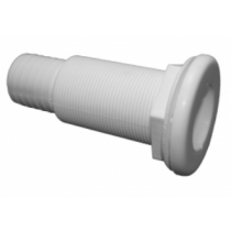 T-H Marine Connector Thru-Hull Fittings White - Extended Length 1-1/2in TH-1502XL-DP