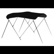 "Carver 404A02 - 6' L x 79""-84"" W Jet Black Sunbrella™ Acrylic 3-Bow Bimini Canvas with Storage Boot"