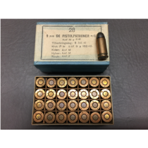 Swedish 9mm Browning Long, 28 Round Box