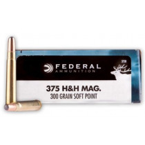 Federal Power-Shok 375 H&H Magnum, 300 GR SP, Box of 20