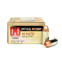Hornady Critical Defense 45 ACP, 185 GR FTX, Box of 20