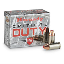 Hornady Critical Duty 45 ACP, 185 GR FTX, Box of 20