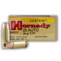 Hornady Custom 25 ACP, 35 GR XTP, Box of 25