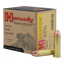 Hornady Custom 38 Special, 158 GR XTP, Box of 25