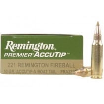 Remington Premier 221 Fireball, 50 GR Accutip-V, Box of 20