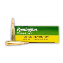 Remington Core-Lokt 25-06 Rem, 100 GR PSP, Box of 20