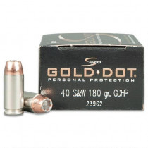 Speer Gold Dot 40 S&W, 165 GR GDHP, Box of 20