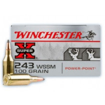 Winchester Super-X 243 WSSM, 100 GR SP, Box of 20