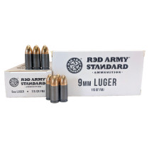 Red Army Standard 9mm Luger 115 GR. FMJ, 1000 RD CASE