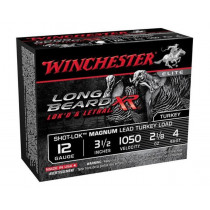 "Winchester Long Beard XR, 12 GA, 3-1/2"" #4 Lead, Box of 10"