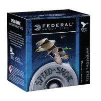 "Federal SpeedShok 16ga 2-3/4"" #4 Steel 15/16oz 25 Rd Box"