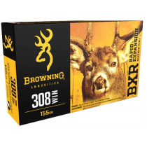 Browning BXR Rapid Expansion Ammunition, 308 Winchester, 155 Grain Matrix Tip
