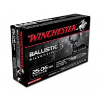 Winchester Silvertip, .25-06 Remington Ammunition, 20 Rounds, BST, 115 Grains